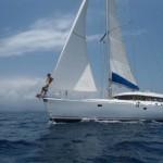 Amande sailing San Blas